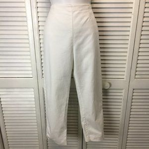 Chico's So Slimming White ankle pant flat front M